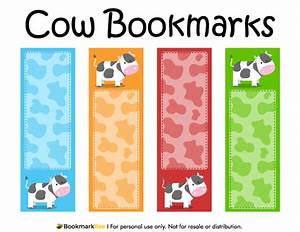 design a bookmark template - printable cow bookmarks