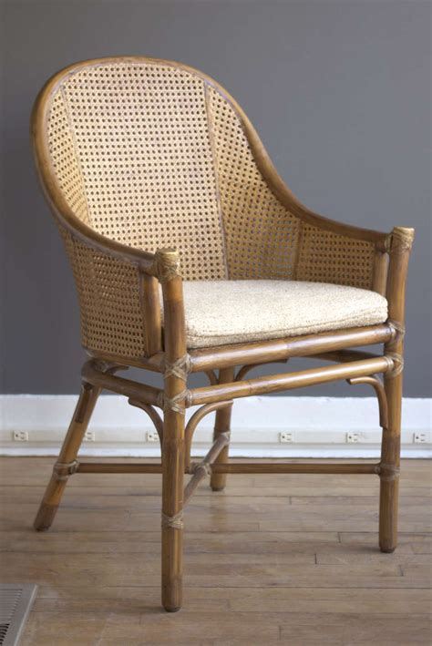 set of six rattan and dining chairs by mcguire at 1stdibs