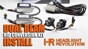 How To Install A Dual Beam Hid Headlights    Bi