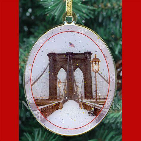 new york city landmarks christmas ornaments gift set