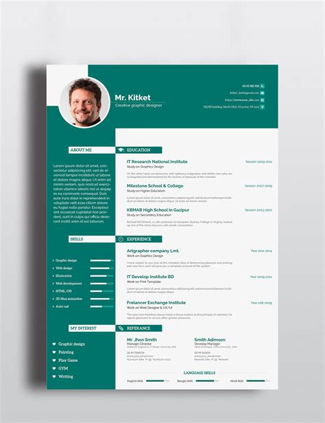 Resume Features by Professional Resume Template On Behance