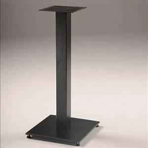 Pied De Table : pied de table central en m tal square 400 4 pieds tables chaises et tabourets ~ Teatrodelosmanantiales.com Idées de Décoration