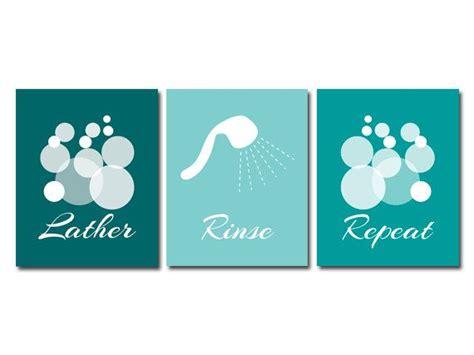 bathroom wall prints or canvas lather rinse repeat aqua bathroom decor modern bathroom