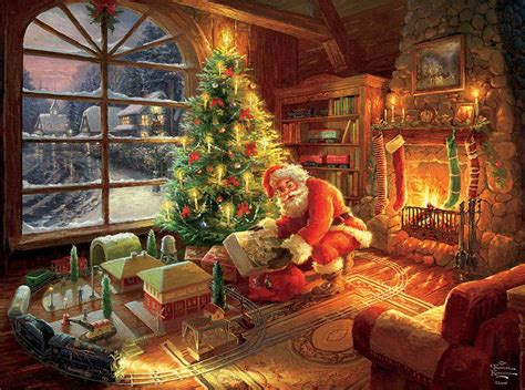 santa s special delivery thomas kinkade holiday jigsaw