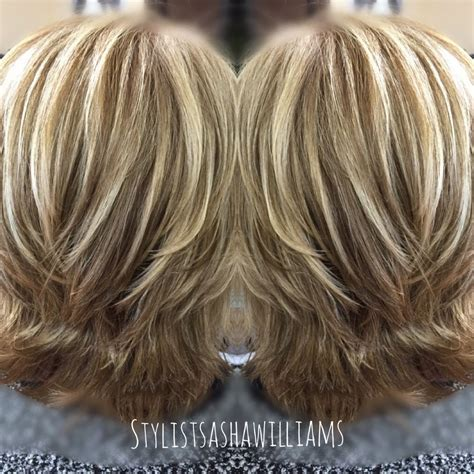 Modern Flip Hairstyle With Blonde Highlights Very Pretty