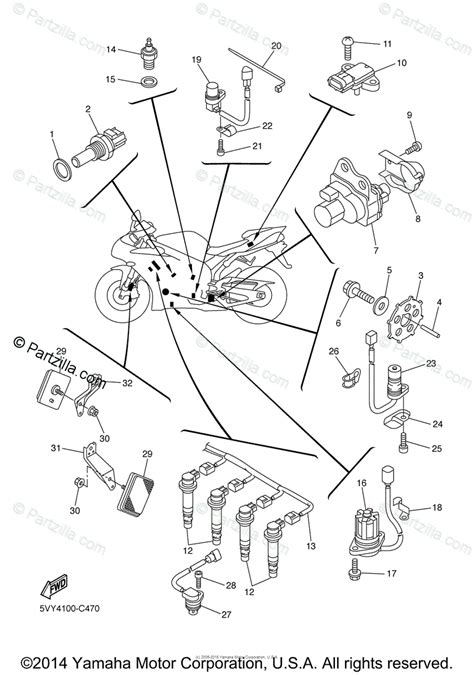 yamaha motorcycle 2005 oem parts diagram for electrical 1 partzilla com