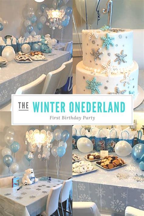 ideas  winter wonderland birthday