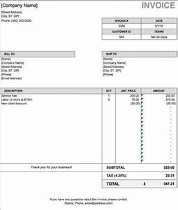 free billing invoice template excel pdf word doc With billing invoice template