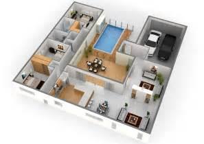 simple 3 bedroom house plans 2 story 3d floor plan with simple bedroom house