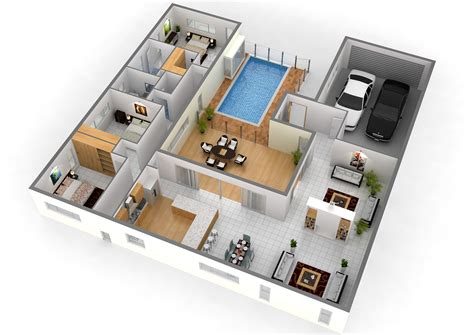 ideal house plan photo gallery 2 story 3d floor plan with simple bedroom house