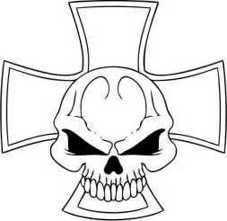 Skull Cross Coloring Pages