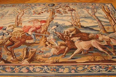 knights boar hunting scene    tapestry rug ebay