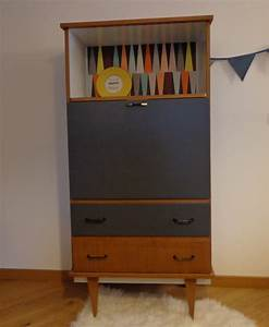 Bureau Secretaire Vintage : secr taire vintage oscar relooking meubles ~ Teatrodelosmanantiales.com Idées de Décoration