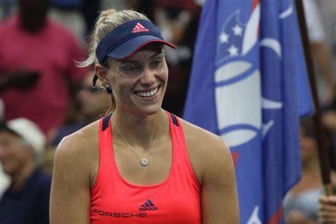 angelique kerber  trainiert deutschlands tennis queen