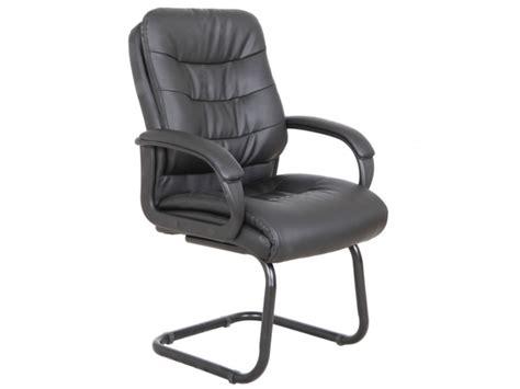 chaise visiteur avec accoudoirs chaise visiteur avec accoudoirs flint simili noir