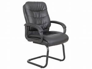 Vente Privee Chaise : chaise visiteur avec accoudoirs flint simili noir ~ Teatrodelosmanantiales.com Idées de Décoration