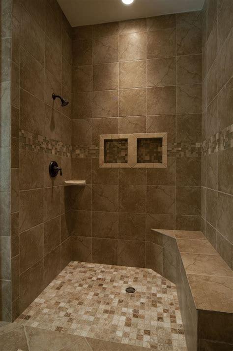 custom shower ideas inlaw quarters shower flush floor and bench for handicap