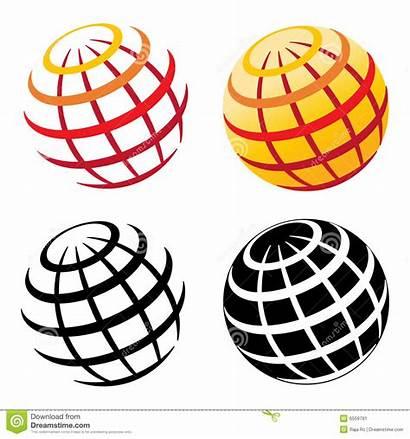 Globe Grid Colorful Globes Isolated Effect Digital