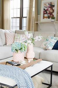 how to make white bedroom walls look gorgeous four With blue pink living room ideas