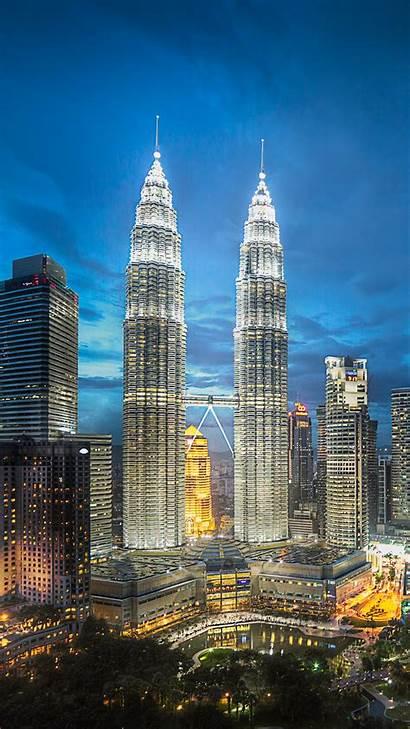 Iphone Towers Twin Wallpapers Night Petronas Buildings