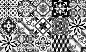 Faience Imitation Carreaux De Ciment : tapis vinyle carreaux de ciment ginette noir ~ Dode.kayakingforconservation.com Idées de Décoration