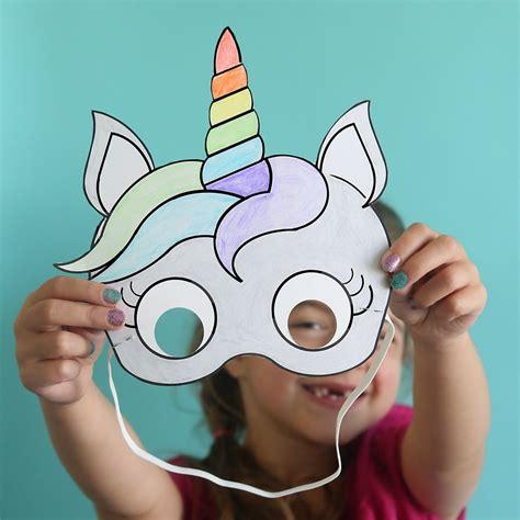 unicorn masks  print  color  printable unicorn mask unicorn coloring pages unicorn