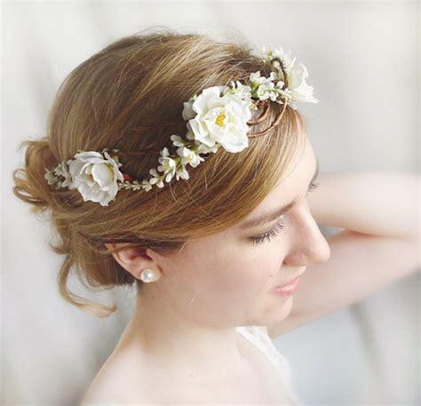 rose wedding white rose headpiece  weddbook