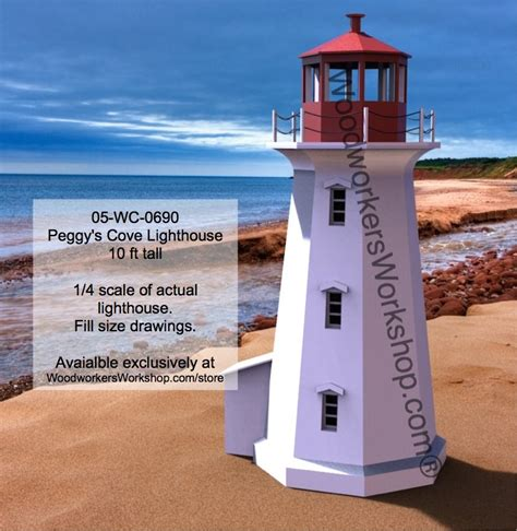 peggys cove lighthouse woodworking plan ft tall