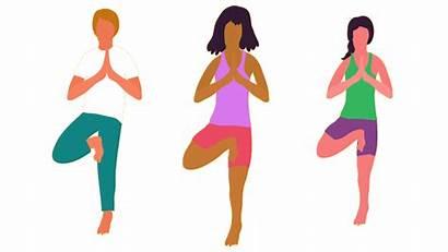 Yoga Poses Stress Exercises Breathing Practice Fitness
