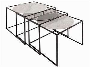 Table Gigogne Marbre : tendance la table basse se multiplie elle d coration ~ Teatrodelosmanantiales.com Idées de Décoration