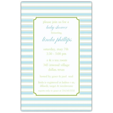simple baby shower invitations simple stripes blue baby shower invitations paperstyle