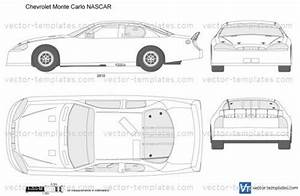 Templates cars chevrolet chevrolet monte carlo nascar for Blank race car templates