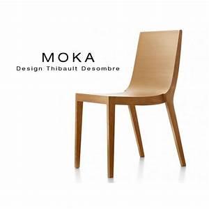 Chaise Bois Design : chaise bois design moka structure et assise vernis lot de 5 chaises ~ Teatrodelosmanantiales.com Idées de Décoration
