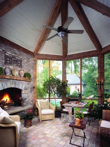 French Country Screened Porch