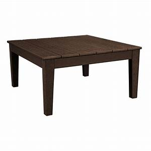 polywood newport 36 in square plastic outdoor coffee With plastic patio coffee table