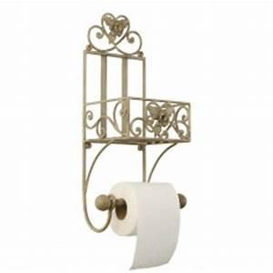Support Papier Toilette Mural : accessoires pour les toilettes derouleur papier wc campagne et style ~ Melissatoandfro.com Idées de Décoration