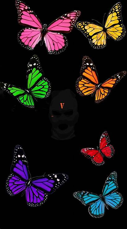 Butterfly Trippy Aesthetic Vlone Iphone Backgrounds Hypebeast