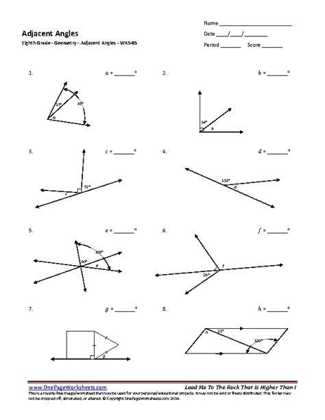 angles worksheet 8th grade geometry worksheets 8th grade breadandhearth