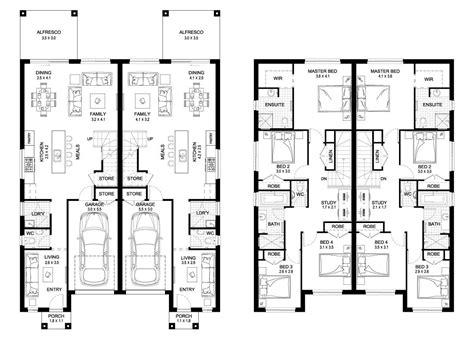 oak  duplex level floorplan  kurmond homes