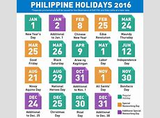 2016 holiday schedule, plan your vacations