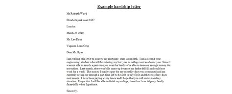 letter  hardship rota template