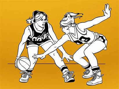 Basketball Clipart Cartoon Player Vector Playing Cliparts