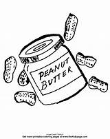 Coloring Peanut Butter Peanuts Clipart Printable Clip Colouring Inspirational Library Insertion Codes sketch template