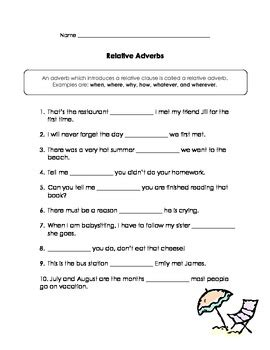 Relative Pronouns & Relative Adverbs Practice by Kathy ...