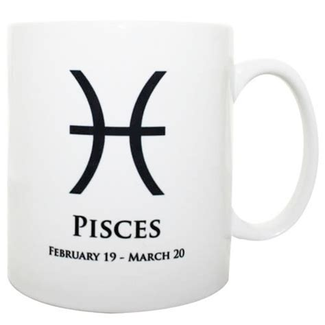 Zodiac Pisces Mug February 19th  March 20th  Ebay. Craft Letter Stickers. Sensor Banners. Bmx Sunday Decals. Top Signs Of Stroke