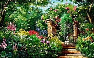 Charming Flowers & Garden Gate wallpapers