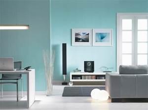 Moderne Wandfarben Für Wohnzimmer : wandfarbe lagune 30 kreative beispiele ~ Sanjose-hotels-ca.com Haus und Dekorationen