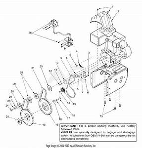 Mtd 31ae664g352  2002  Parts Diagram For Belt Drive