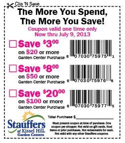 garden center coupons stauffers of kissel hill garden center