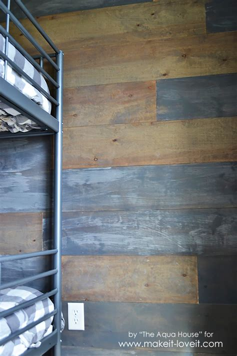How To Make Barn Wood by How To Make A Faux Barn Wood Wall Make It And It